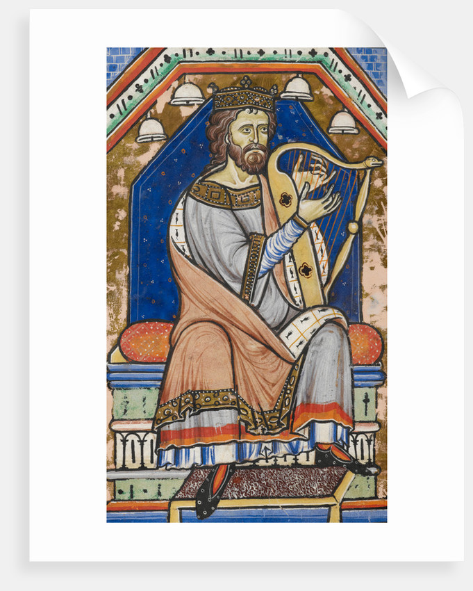 King David playing the harp by Anonymous