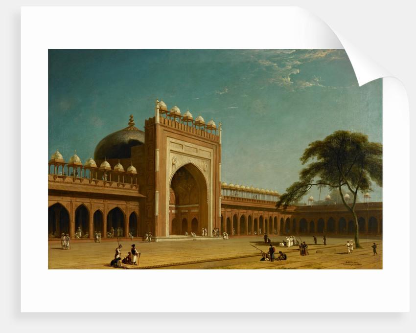 Quadrangle of the Jami Masjid, Fatehpur Sikri by William Daniell