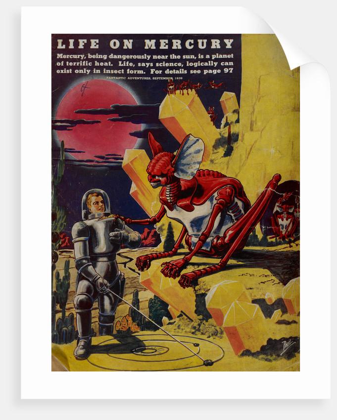 Life on Mercury by Frank R Paul