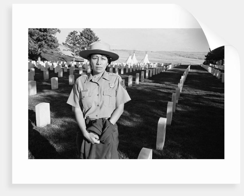 A ranger at Little Big Horn Battlefield by Michael Katakis