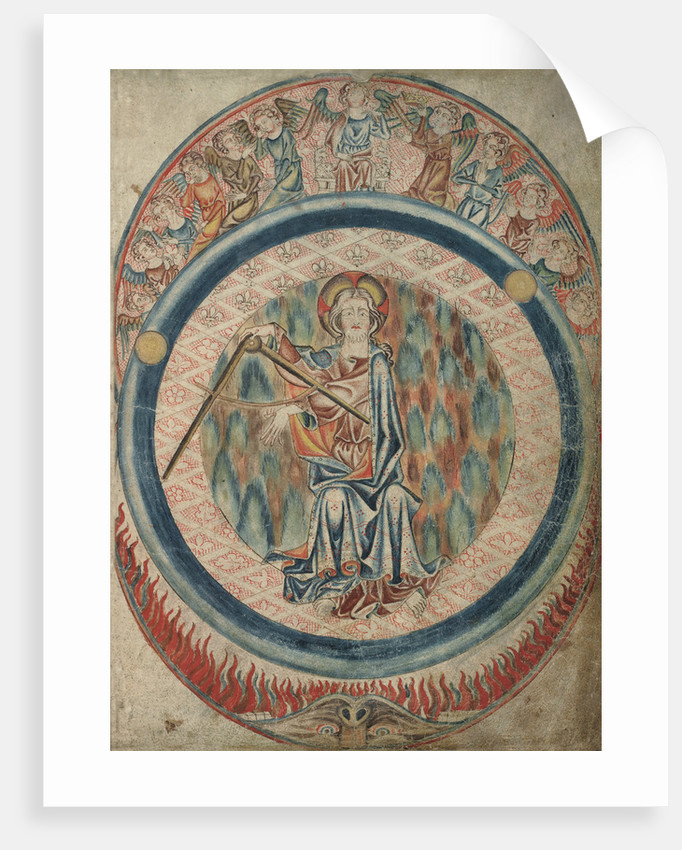 God the Creator in the Holkham Bible by Anonymous