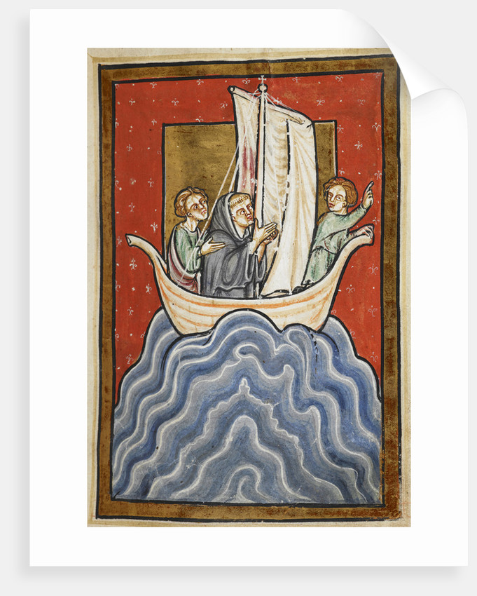 St. Cuthbert sailing to the land of the Picts by Anonymous
