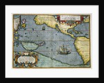 Map of the Pacific Ocean by Abraham Ortelius
