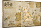 Map of the Spanish Armada and the British Isles by Robert Adams