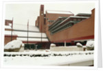 The British Library in snow by The British Library