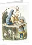 Alice meets the blue caterpillar by Sir John Tenniel