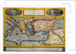 Map of the Mediterranean by Abraham Ortelius