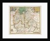 Map of Oxfordshire, Berkshire and Buckinghamshire by Christopher Saxton