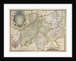 Map of Northamptonshire, Bedfordshire, Cambridgeshire, Huntingdonshire by Christopher Saxton