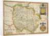 Map of Herefordshire by Christopher Saxton