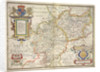 Map of Warwickshire and Leicestershire by Christopher Saxton