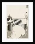Woman reading by Aubrey Beardsley