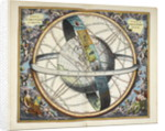Planisphere with astrological signs of the zodiac, Atlas Coelestis by Andreas Cellarius