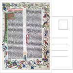 Page from the Gutenberg Bible by Anonymous