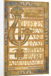 Beginning of the Gospel of St Matthew, from the Harley Golden Gospels by Anonymous