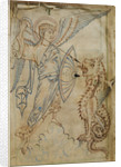 St Michael and the dragons, from the Tiberius Psalter by Anonymous