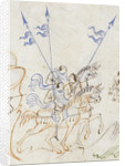 Detail of men on horseback, from the Harley Psalter by Anonymous