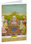 Timur enthroned with his descendants from Babur to Jahangir by Hashim