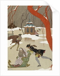 Skating - en patinant by George Barbier