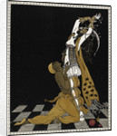 Nijinsky as the Golden Slave in Scheherazade by George Barbier