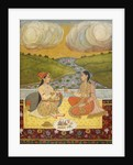 Two ladies on a terrace by Rai Anup Chattar
