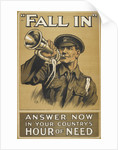 Fall in. Answer now in your country's hour of need by Anonymous