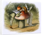 A fairy and an elf kissing by Richard Doyle