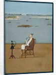 Ashraf 'Ali Khan smoking a hookah by Dip Chand