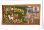 Rama, Sita and Laksmana leave Ayodhya by Anonymous