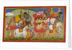 Dasaratha sets out for Mithila by Manohar