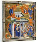 The Annunciation to the Virgin by Anonymous