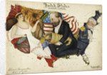 Cartoon map of the 1880 US Presidential Election by Lillian Lancaster
