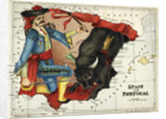 Cartoon map of Spain and Portugal by Lillian Lancaster