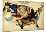 Cartoon map depicting the US Presidential Election of 1880 by Lilian Lancaster