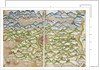Medieval map of the Holy land - Jerusalem by Matthew Paris