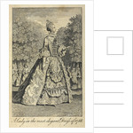 A lady in the most elegant dress of 1768 by Anonymous