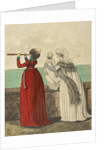 Two ladies and a child by the sea by Anonymous
