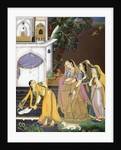 A princess watching a maid killing a snake by Mir Kalan Khan