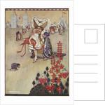 Alice playing croquet by Gwynedd M Hudson