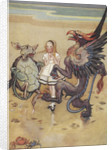 Alice dancing with the mock turtle and gryphon by Gwynedd M Hudson