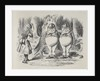 Alice meeting Tweedle Dee and Tweedle Dum for the first time by Sir John Tenniel