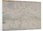 1862 map of London with bus and cab routes by Anonymous