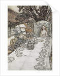 Alice at the tea party by Arthur Rackham