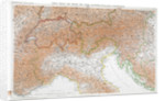 First World War map of the Austro-Hungary frontier, 1915 by Anonymous