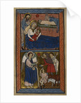 The Nativity and the Annunciation to the Shepherds by Anonymous