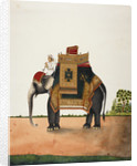 An elephant bearing a howdah by Anonymous