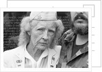 Evelyn Barbour visiting the Vietnam Veterans Memorial by Michael Katakis