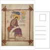 St Luke in the Lindisfarne Gospels by Eadfrith