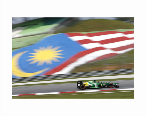 Flying the flag, Giedo van der Garde, Malaysia by Glenn Dunbar