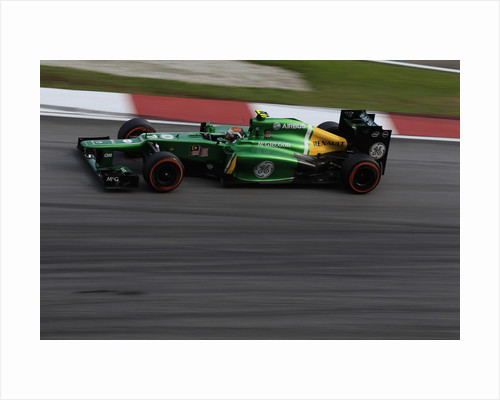 Electric green speed machine, Giedo van der Garde, Malaysia by Charles Coates
